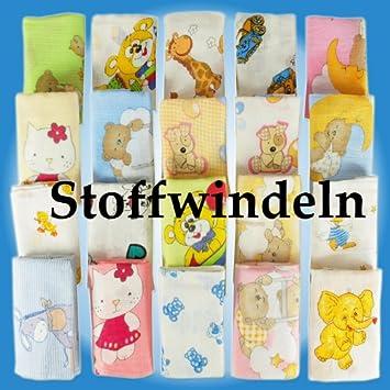 10 Stoffwindeln bunt Stoffwindel Mullwindeln Spucktuch reine Baumwolle 80x80 cm