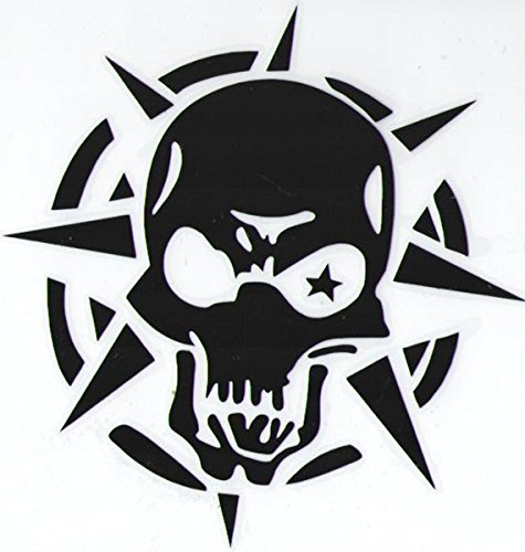5 Pieces Car Laptop Decal Sticker Skull Black 5.5''*5.5'' (Black Monster Energy Stickers compare prices)