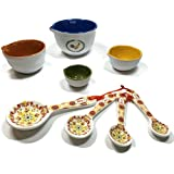 Tuscan Kitchen Measuring Cup and Spoon Bundle includes 8 items: 4 Measuring Cups and 4 Measuring Spoons