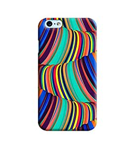 Blue Throat Multi Shade Curve Printed Designer Back Cover/Case For Apple iPhone 6 Plus