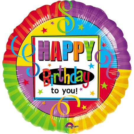 "Anagram International Birthday Perfection Foil Balloon, 18"", Multicolor - 1"