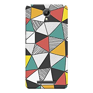 ColourCrust Xiaomi Redmi Note 2 Mobile Phone Back Cover With Abstract Style Modern Art - Durable Matte Finish Hard Plastic Slim Case