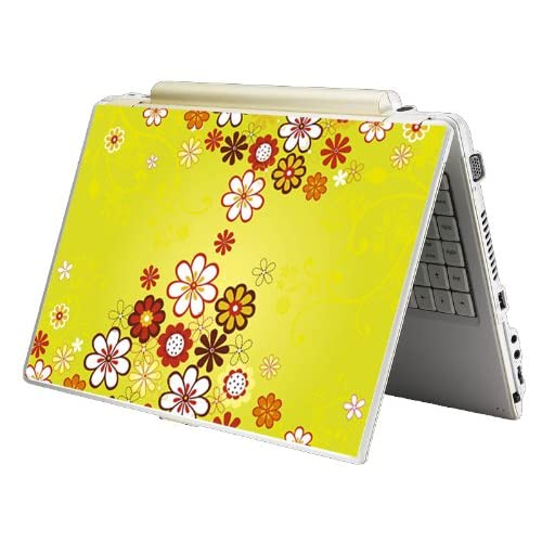Bundle Monster Laptop Notebook Skin Sticker Cover Art Decal   12 14 15   Fit HP Dell Asus Compaq   Yellow Flower