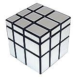 V5-Space Shengshou Mirror Magic Cube Intellengence Ninos Educacion Herramientas Juego de Puzzle,Plata