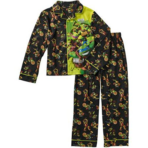 Teenage Mutant Ninja Turtles Boys Button Front Pajama Pajama Set (6/7) (Ninja Turtles Pajamas Set compare prices)
