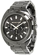 Michael Kors Dean Chronograph Dark Grey Black Ion-plated Mens Watch MK8276