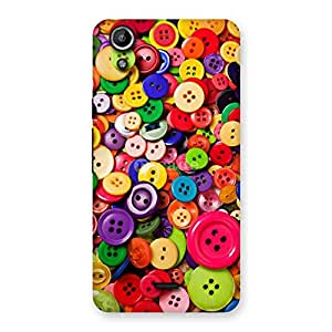 Delighted Button Lot Print Back Case Cover for Micromax Canvas Selfie Lens Q345