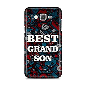 Motivatebox- Best Grandson Samsung Galaxy J2 2016 edition cover -Matte Polycarbonate 3D Hard case Mobile Cell Phone Protective BACK CASE COVER. Hard Shockproof Scratch-