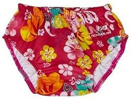 Speedo Girls\' Swim Diaper, Pink, Large