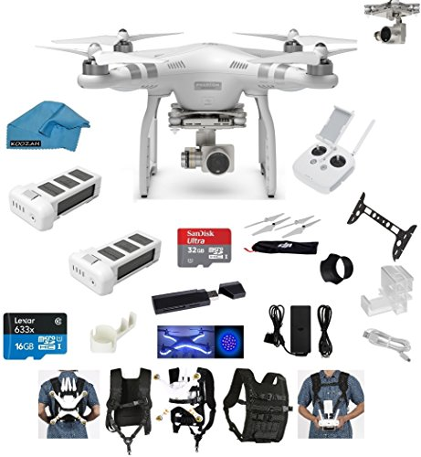 New DJI Phantom 3 Advanced Quadcopter Drone with HD Camera EVERYTHING YOU NEED Kit + DJI Extra Batte...