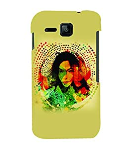 PrintVisa Stylish Cool Girl Modern Art 3D Hard Polycarbonate Designer Back Case Cover for Micromax Bolt S301