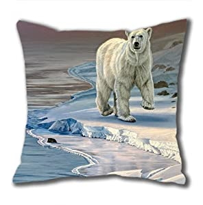 Illustration Painting Ram And Electric Peak Standard Size Design Square Pillowcase/Cotton Pillowcase with Invisible Zipper in 40*40CM 16*16(527)-527053 by Square Pillowcase