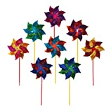 In the Breeze Mylar Pinwheel Spinner (8 PC assortment)