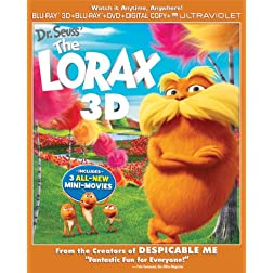 Dr. Seuss' The Lorax (Blu-ray 3D/Blu-ray/DVD Combo + Digital & UltraViolet Copies)