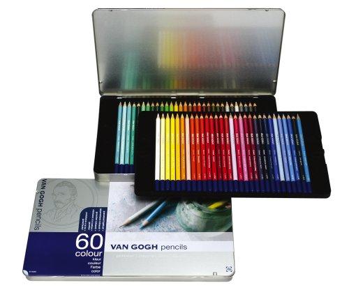 ヴァンゴッホ色鉛筆60色 セット(メタルケース入り)