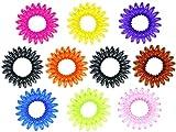 Lot de 10 élastiques chouchous panaché de couleurs TG-01 en forme de fils des anciens téléphones Diamètre de base 3 cm, extensible adjustable, maintien les cheveux bien en place Attache facilement et sans les abîmer tout type de cheveux, ne glisse pas Matière plastique: Peut également servir de bracelet pour enfants, ado, La couleur sera expédier au hasard et selon la disposnibilité...