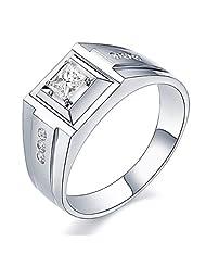 0.50 Carat Princess cut Diamond Mens Wedding Ring 10K White Gold coupons 2015