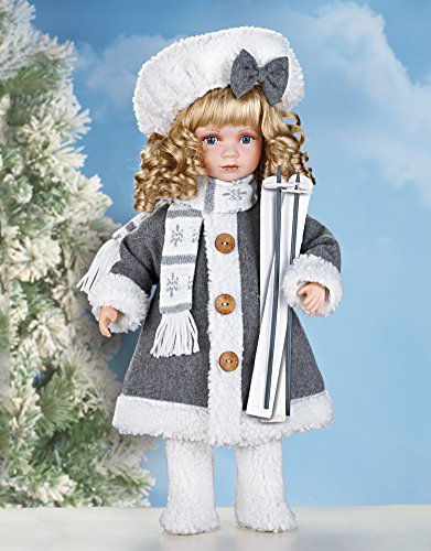 Collections Etc Winter Lauren Collectible Porcelain Doll