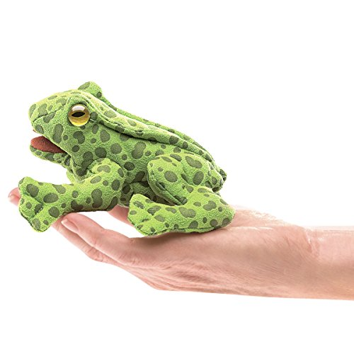 Folkmanis-Mini-Frog-Finger-Puppet-Plush