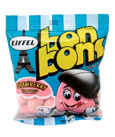 Bon Bons - Strawberry (Eiffel), 1.25 oz bag, 24 count