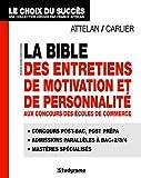 echange, troc Franck Attelan, Fabrice Carlier - La Bible des entretiens de motivation et de personnalité