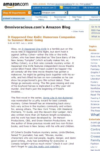 Amazon's Omnivoracious Blog