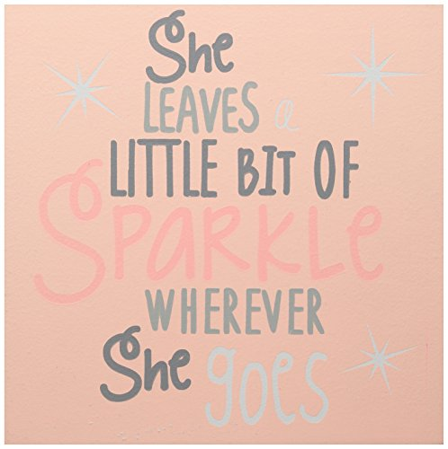 Mud Pie Plaque, She Sparkles, Pink