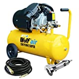 Wolf 10BAR Cheyenne 50L 3HP 14CFM 230v Air Compressor +10m Hose +3