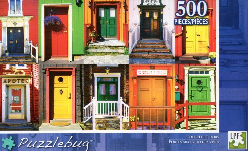 Colorful Doors - Puzzlebug - 500 Pc Jigsaw Puzzle - NEW