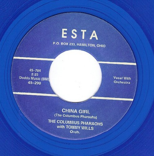China Girl Give Me Your Love (NM 45 rpm) by The Columbus Pharaohs With Tommy Wills