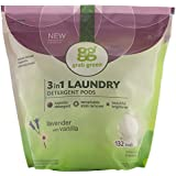 Grab Green Natural 3-in-1 Laundry Detergent Pods, Lavender with Vanilla, 132 Loads