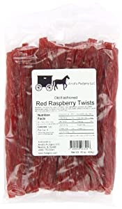 Amish Buggy Licorice, Red Raspberry, 1 Pound (Pack of 12)