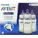 Philips Avent BPA Free Classic Polypropylene Bottles, 3 Count, 11 Ounce (Discontinued by Manufacturer)