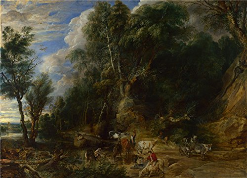 peter-paul-rubens-the-watering-place-oil-painting-8-x-11-inch-20-x-28-cm-printed-on-high-quality-pol
