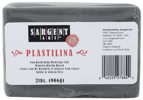Sargent Art Plastilina Modeling Clay, 2-Pound, Gray (Modeling Clay compare prices)
