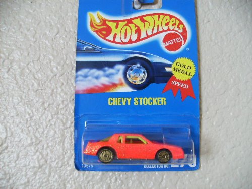 Hot Wheels Chevy Stocker All Blue Card #270 Pink W/yellow Interior - 1