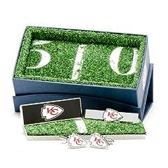 Kansas City Chiefs 3-Piece Gift Set by Cufflinks