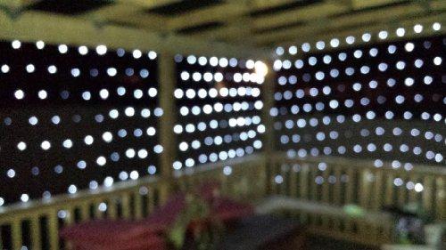 Aleko® El-N150W 150 Led White Net Mesh Fairy String Light Christmas Lights Lighting Party Wedding Xmas Tree-Wrap