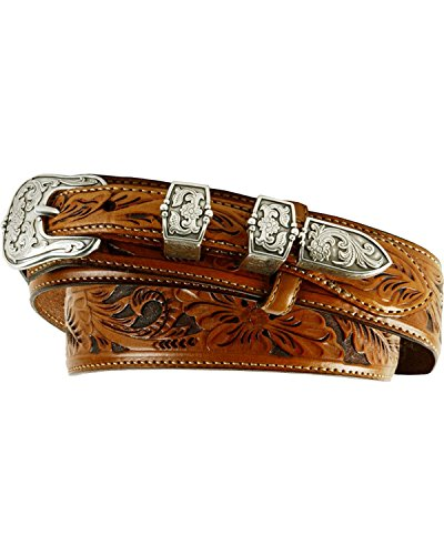 Tony Lama Men's Tooled Leather Ranger Belt Brown 40 (Hand Tooled Belt compare prices)