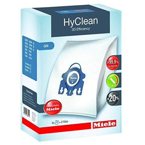 Miele GN Vacuum Hoover Taschen - Komplette C2 C3 Cat & Dog Powerline Stille Ecoline Echte Originale HyClean + Filter (1 Box)