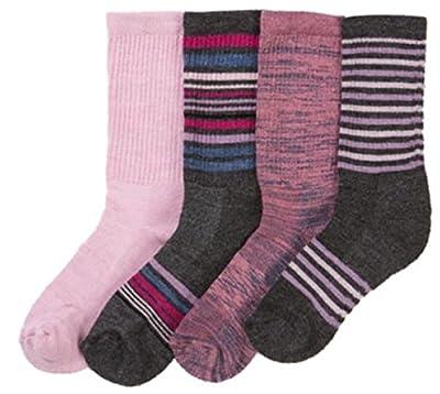 Kirkland SignatureTM Ladies' Trail Sock 4-Pack-Orchid, Shoe Size: 4-10