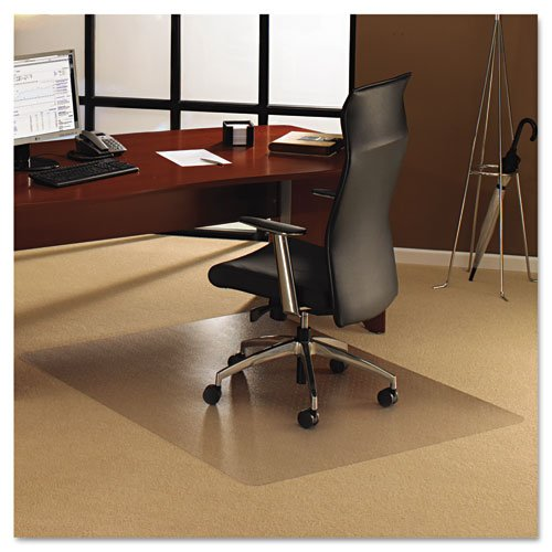 Floortex Products - Floortex - Polycarbonate Chair Mat, 48 x 60, Clear - Sold As 1 Each - Crystal clear to allow your carpets to show through. - This exceptionally durable Original Floortex Polycarbonate mat is designed to perfectly preserve the condition of the surface it covers. - It will not crack, curl, discolor and is odorless. - Completely free from toxic chemicals, this is the environmentally safe, PVC alternative. -