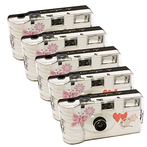 5 x PHOTO PORST appareils photo jetables pour 27 photos avec flash