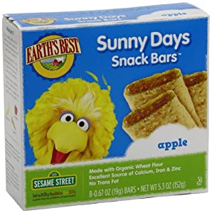 Earth's Best Organic Sunny Days Apple Snack Bars, 5.3 Ounce Boxes (Pack of 6)