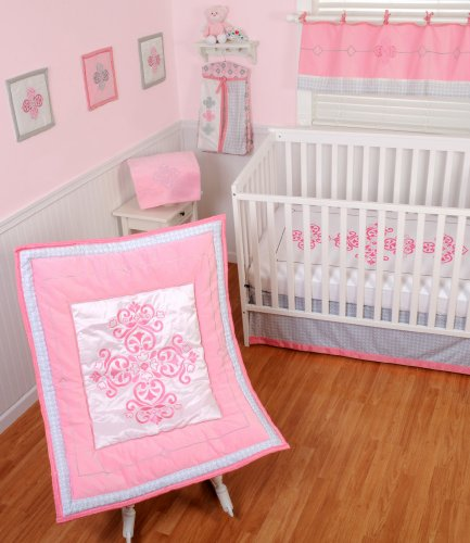 Sumersault 4 Piece Crib Bedding Set, Princess