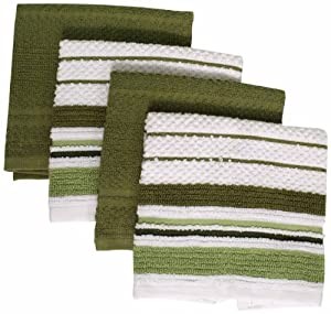 Foreston Trends 12 by 12-Inch Venice Dishcloth, Green, Set of 4 at Sears.com
