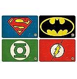 DC Comics Frühstücksbrettchen Set - vier Superhelden Frühstücksbrettchen im Set