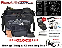 Glock Handgun Shooters Hunters Shooting Range Bag with TekMat & 24 Pc Handgun Range Cleaning Kit