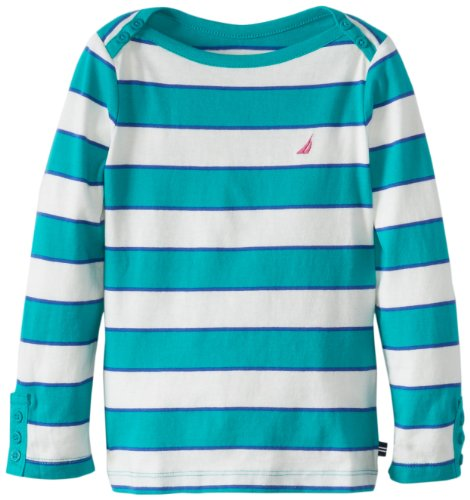 Nautica Girls 2-6X Long Sleeve Stripe Shirt