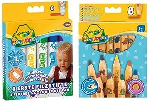 Crayola 10961 - 8 Erste Filzstifte und 8 Jumbo Buntstifte